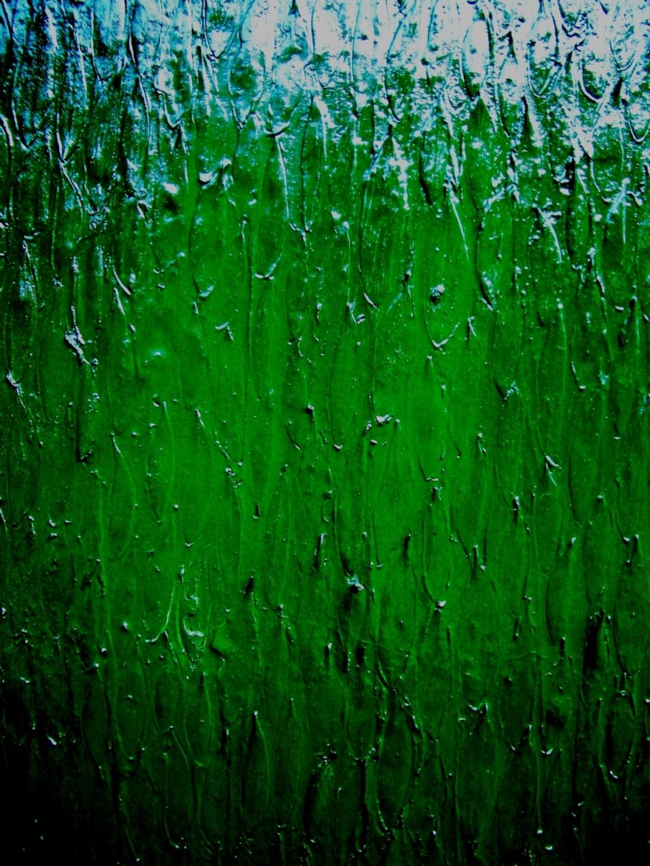 Green rain - 80x40 cm